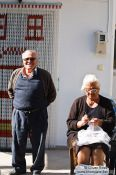 Travel photography:People in a village near Garazo, Grece