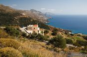 Travel photography:House overlooking the Sfakion coast, Grece