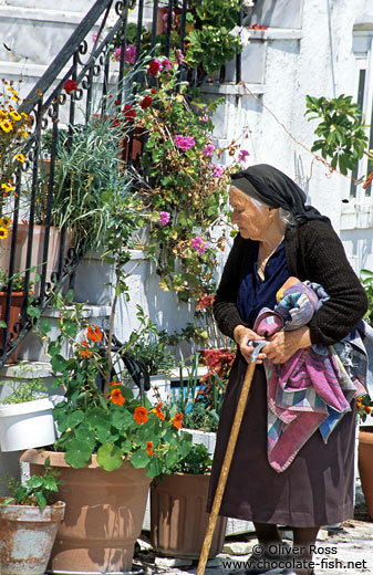 Old woman in Parga