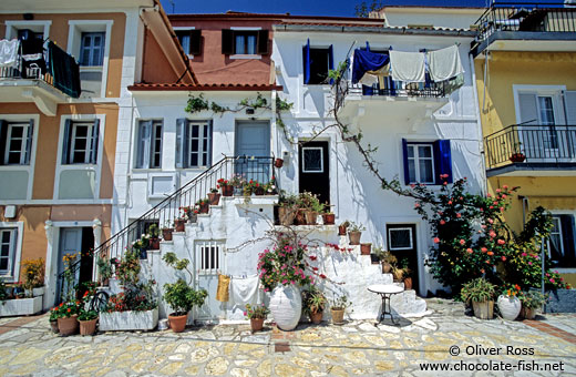 Traditional houses in Parga