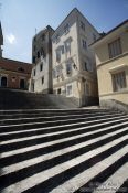 Travel photography:Stairs in Corfu old town, Greece