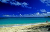 Travel photography:Waimanalo Beach on Oahu, Hawaii USA