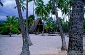 Travel photography:Pu`uhonua o Honaunau Ntl Historical Park, Hawaii USA