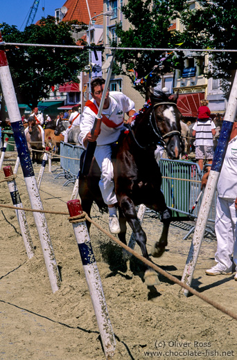 Riding competition at a festival in Vlissingen