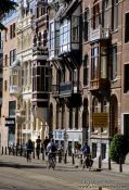 Travel photography:Street in Amsterdam, Holland (The Netherlands)