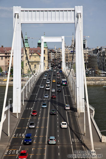 The Elisabeth Bridge in Budapest