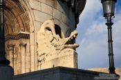 Travel photography:Dragon sculpture in the Fisherman´s Bastion at Budapest castle, Hungary