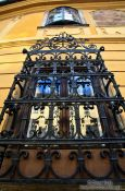 Travel photography:Window at a house in Budapest castle, Hungary