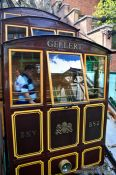 Travel photography:Budapest cable car cabin , Hungary