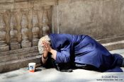 Travel photography:Budapest beggar , Hungary