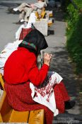 Travel photography:Woman selling handicraft in Budapest, Hungary