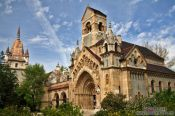 Travel photography:The Ják chapel in Budapest´s Vajdahunyad castle, Hungary