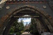 Travel photography:Gate of Budapest´s Vajdahunyad castle, Hungary