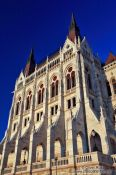 Travel photography:Budapest parliament facade detail, Hungary