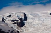 Travel photography:View of the Vatnajökull glacier that drains into Breiðárlón lake, Iceland