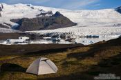 Travel photography:Camping at Breiðárlón lake, Iceland