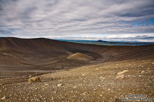 The crater of Hverfjall volcano