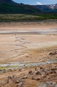 Travel photography:Undulating stream through the geothermal area at Hverarönd near Mývatn, Iceland