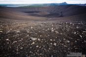 Travel photography:The crater of Hverfjall volcano, Iceland