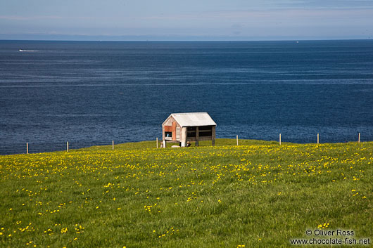 Small shed near the Sauðanes lighthouse
