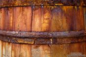 Travel photography:Detail of the barrels outside the Siglufjörður herring museum, Iceland