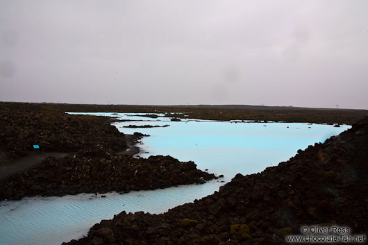 Blue lava rock pools near the Blue Lagoon