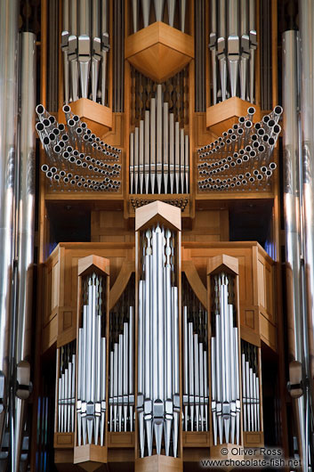 The main organ inside Reykjavik´s Hallgrimskirkja church