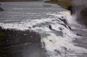 Travel photography:Gullfoss waterfall on the Golden Circle tourist route, Iceland