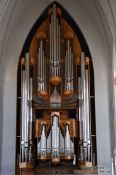 Travel photography:Main organ in Reykjavik´s Hallgrimskirkja church, Iceland