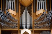 Travel photography:Organ pipes at Reykjavik´s Hallgrimskirkja church, Iceland