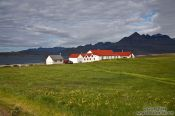 Travel photography:Houses at Berunes, Iceland