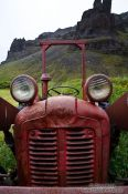 Travel photography:Abandoned tractor at Nupsstadur, Iceland