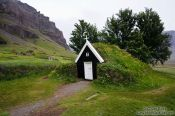 Travel photography:The old peat church at Nupsstadur, Iceland