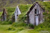 Travel photography:Old wooden houses at Nupsstadur, Iceland