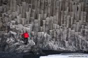 Travel photography:Basalt formations at Vik, Iceland