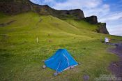 Travel photography:Unlucky campers at windy Vik, Iceland