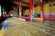 Travel photography:Inside the Diskit Gompa (Buddhist monastery), India