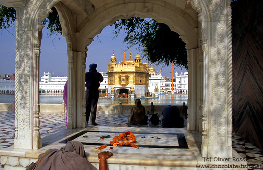 Pilgrims at the Golden Temple in Amritsar