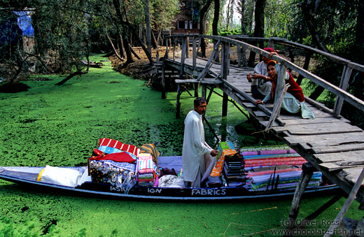 Travelling salesman on Dal lake, Srinagar