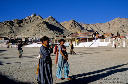 People at the Polo grounds in Leh