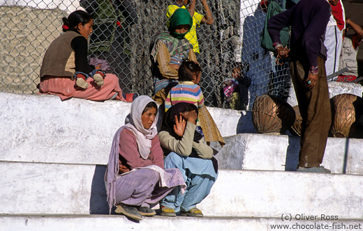 Spectators at a Polo match in Leh