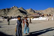 Travel photography:People at the Polo grounds in Leh, India