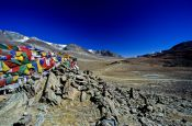 Travel photography:Prayer flags between Manali and Leh, India