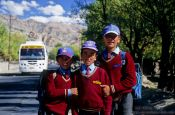 Travel photography:School kids near Thiksey, India