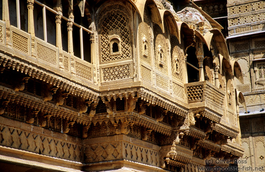 Old Havelis (merchant houses) in Jaisalmer