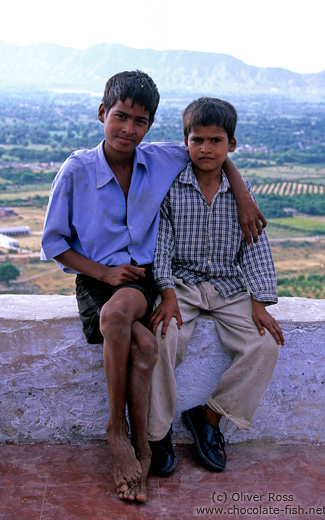 Two boys in Pushkar