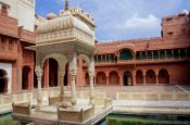 Travel photography:Courtyard inside the Junagarh Fort in Bikaner, India