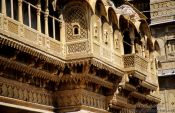 Travel photography:Old Havelis (merchant houses) in Jaisalmer, India