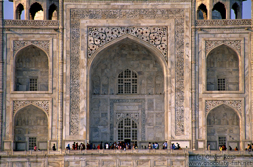 Taj Mahal facade close-up