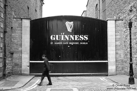 Entrance to the Guinness brewery in Dublin